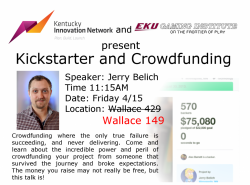 Kickstarter and Crowdfunding
