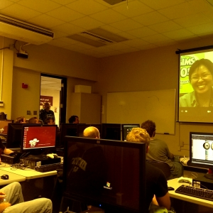 JoAnna Lio Amos Skypes with EKU students